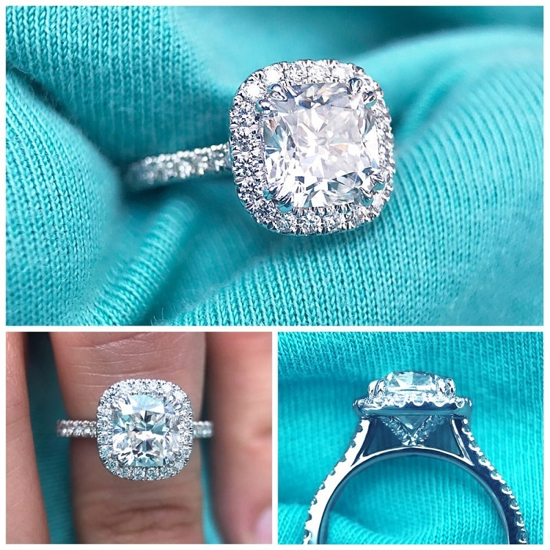 cushion cut halos